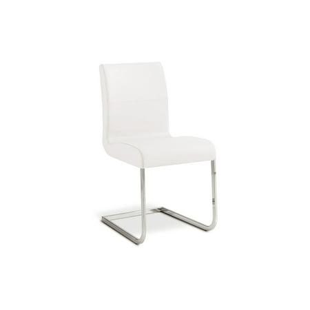 STELLA Italian White Leather Dining Chair by Talenti Casa ()