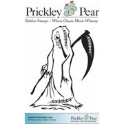 Prickley Pear Cling Stamps 3.25 Inch X 3.25 Inch-Grim Reaper