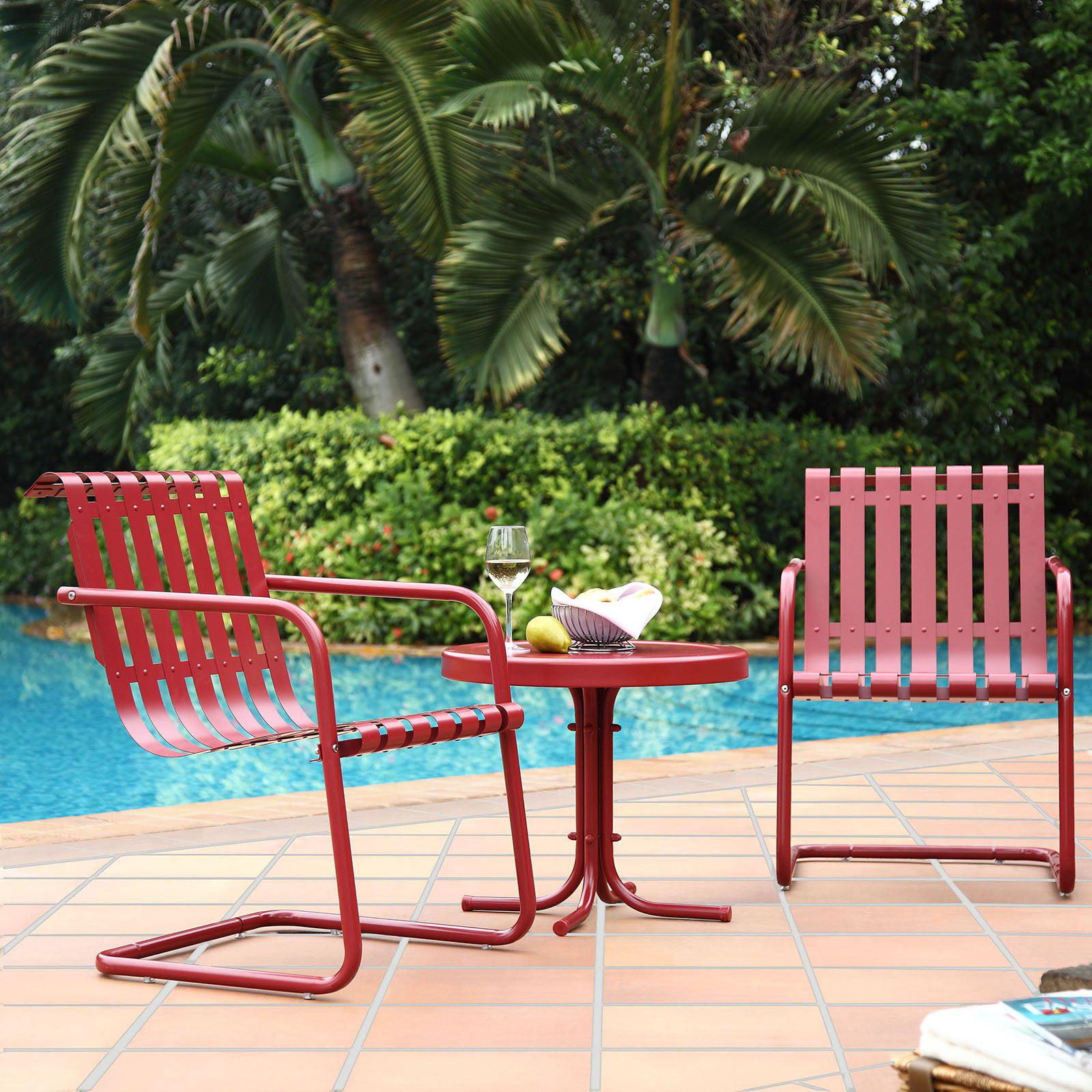 Crosley Furniture Gracie 3 Piece Metal Outdoor Conversation Seating Set    Walmart.com