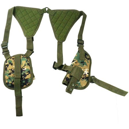 Every Day Carry Tactical Under Arm Shoulder Pistol Holster w/Double Mag (Best Pistol Mag Pouch)