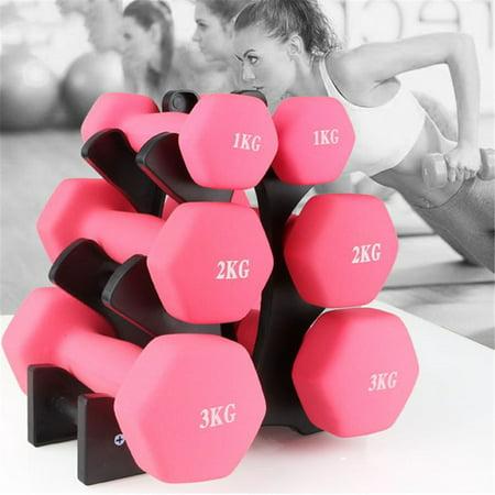 Dumbbell Storage Rack 3 Tier Shelf Hand Weight Holder Gym Dumbbells Tree Stand..