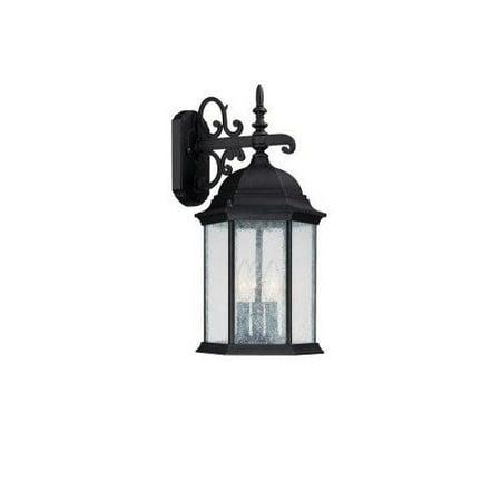 Capital Lighting Main Street 3-LT Outdoor Wall Lantern - Black - (Capital Lighting Main Street)