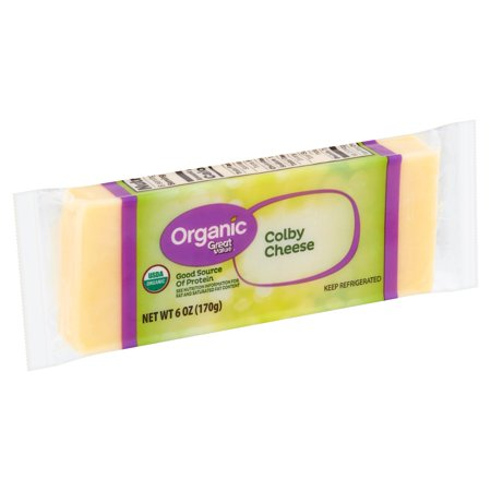 Great Value Organic Colby Cheese, 6 oz