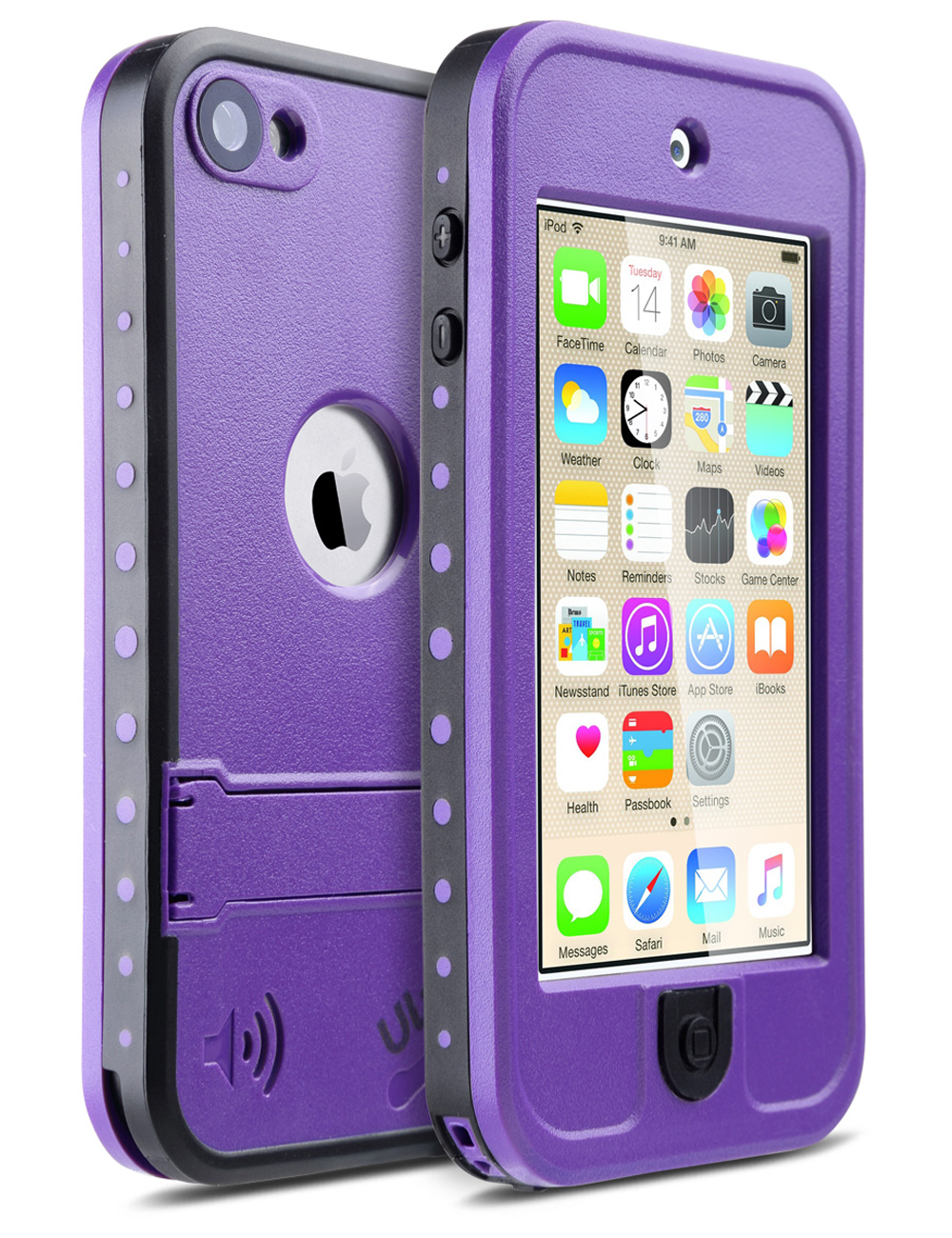 ULAK iPod Touch 5/6 Waterproof Case, Dustproof Sweatproof with Kickstand Built-in Touch Screen for Apple iPod Touch 5 / iPod Touch 6 6th Gen