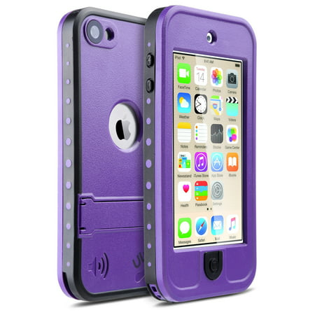 free shipping ff2be 51dcf iPod Touch 6th Generation Case, iPod Touch 5th Generation Case,ULAK  Waterproof Dustproof Sweatproof Cover Built-in Touch Screen with Kickstand  for ...