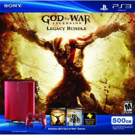 Refurbished PS3 Red 500 GB God Of War Ascension Legacy