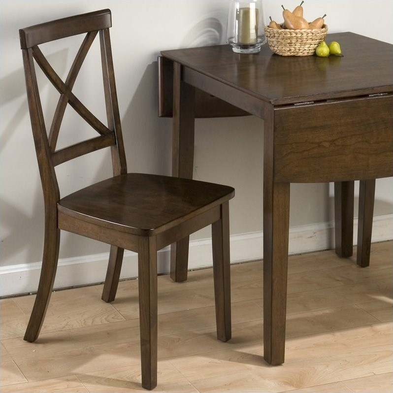 "Jofran ""X"" Back Dining Chair in Taylor Brown Cherry (Set of 2) by Jofran"