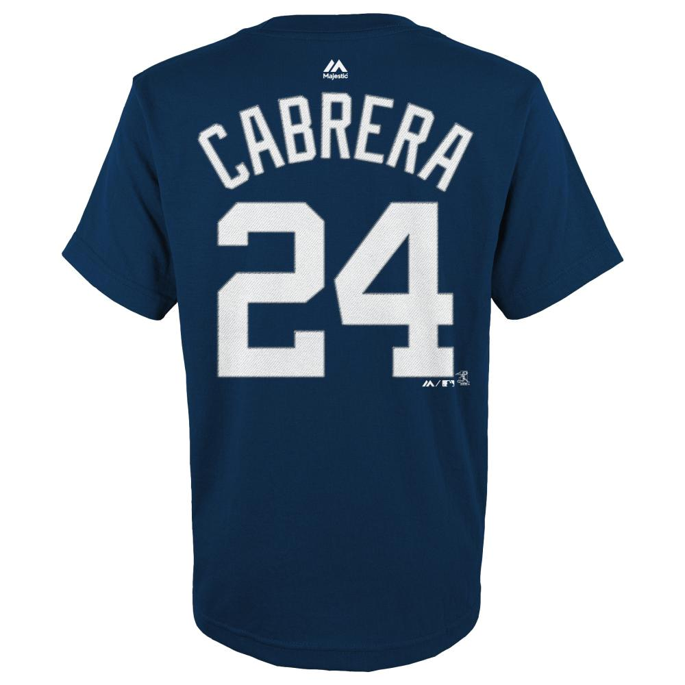 Miguel Cabrera Detroit Tigers Youth Majestic MLB Player Navy T-Shirt