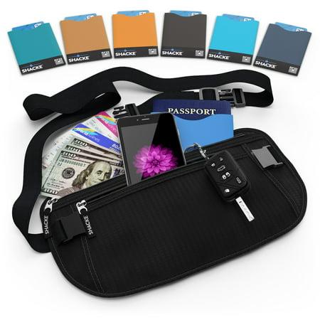 Shacke Hidden Travel Belt Wallet w/ RFID (Best Raid Money Belts)