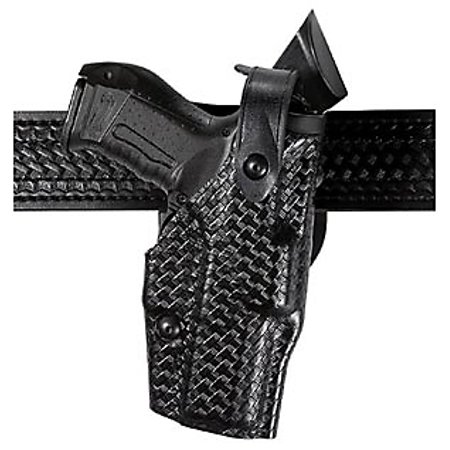 Safariland Model 6360 ALS Level III, Mid-Ride Duty Holster, Hood Guard - Fit 109 - Basketweave Black, Left Hand ()