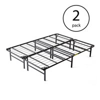 intelliBASE Lightweight Easy Set Up Platform Metal Bed Frame, Queen (3 Pack)