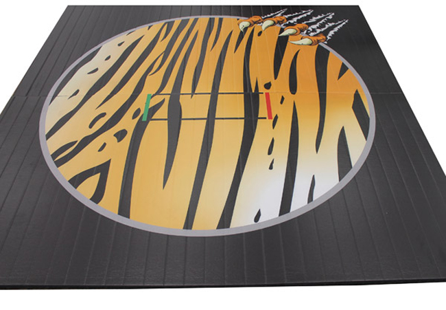 Wrestling Mat Liteweight DigiPrint, 10'x10' (Two 5'x10' Pieces), Bengal Pattern with Claw, Tape Connection by