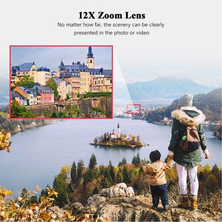 ORDRO TX-13 12X Ultra HD, téléobjectif monoculaire, téléobjectif, objectif K9, enduit FMC Prism pour Smartphone, compatible avec ORDRO HDR-AZ50, HDR-AC3, HDV-D395, appareil photo DV / à utiliser sépar - image 6 de 7