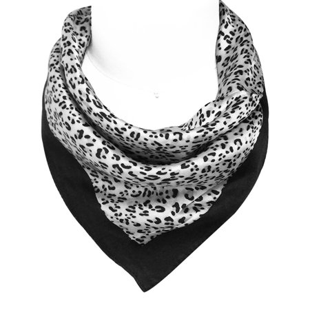 Wrapables® 100% Silk Neckerchief Square Scarf, White (Paisley Neckerchief)
