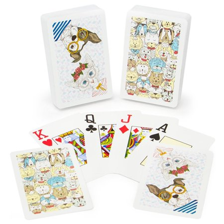 100% Plastic Bridge - Neo Pets 100% Plastic Playing Cards, Bridge Size, Jumbo Index, The Copag Neo line represents the latest design trends in a fresh, fun package By Copag