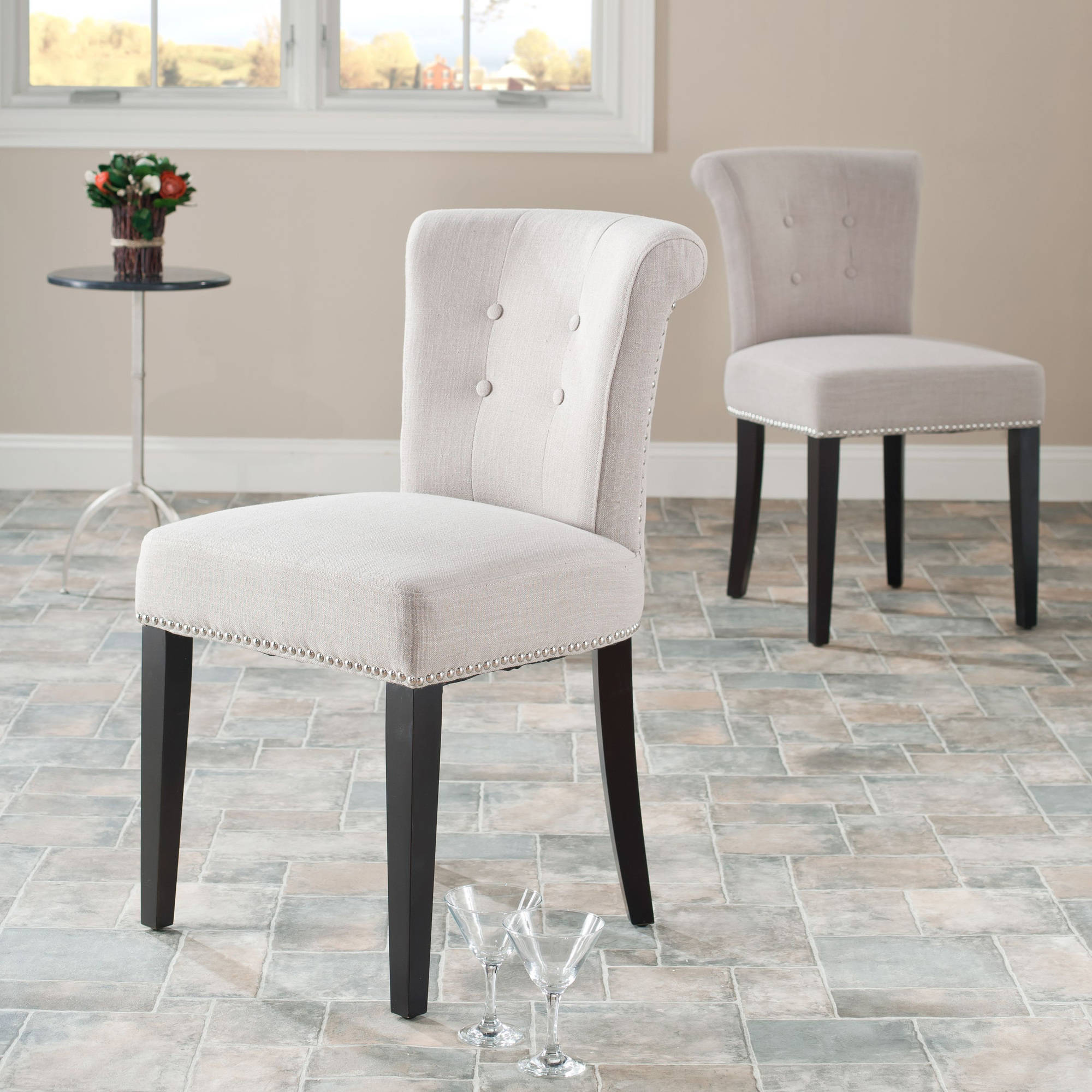 Safavieh Sinclaire Side Chairs with Nailheads, Set of 2