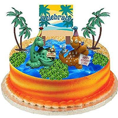 Happy Dinosaur Cake Decoration Topper