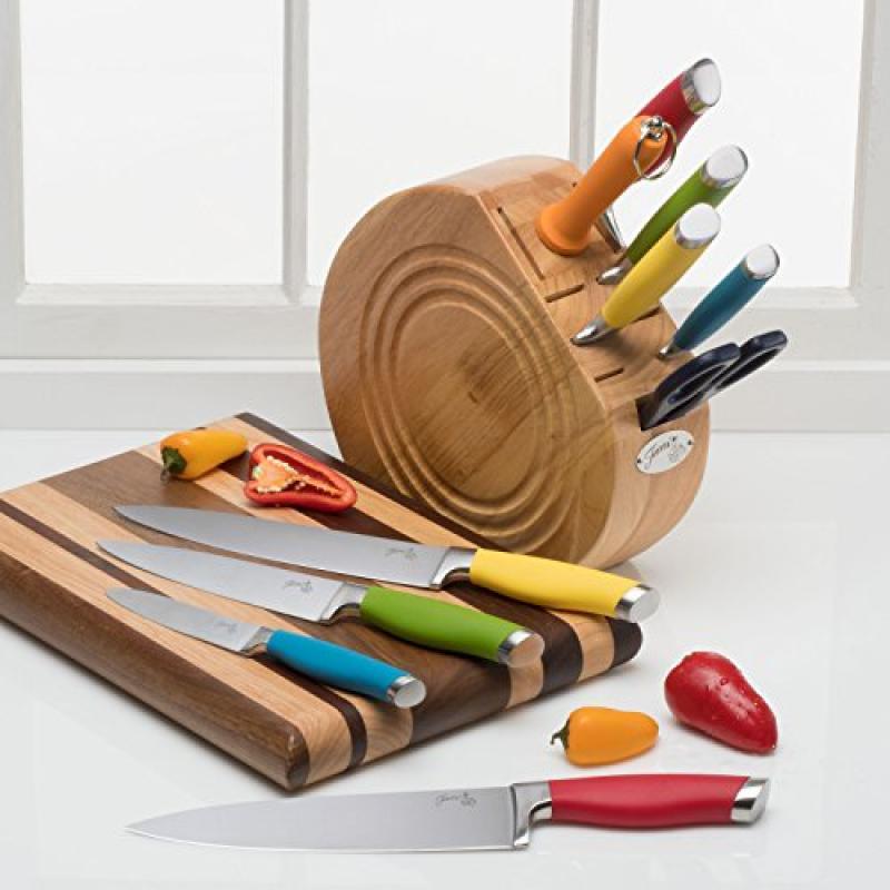 Fiesta 11 Piece Cutlery Knife Block Set, Adult, Multicolor
