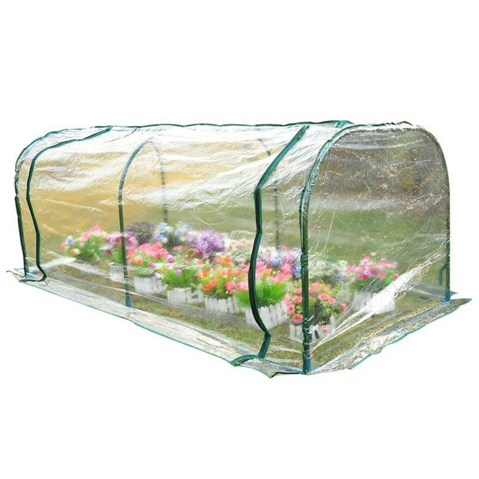 Outsunny 7'x3'x2.6' Portable Backyard Flower Garden Greenhouse by Aosom LLC