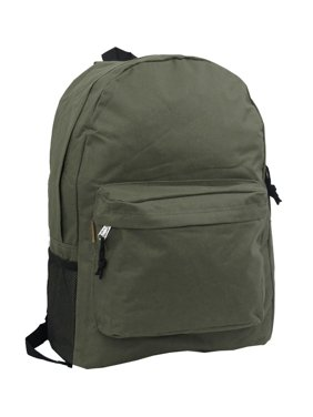 beef9a1dc9af Product Image Backpack 18 inch Padded Back School Day Pack Classic Book Bag  Mesh Pocket Olive