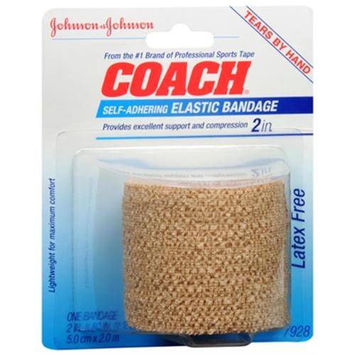JOHNSON & JOHNSON COACH Self-Adhering Elastic Bandage 2.20 Yards (Pack of 2)