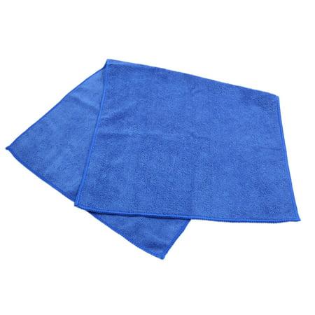 Blue Composite Coral Velvet Clean Cloth Absorbent Car Wash Towel 65cm x 33cm - image 1 of 3