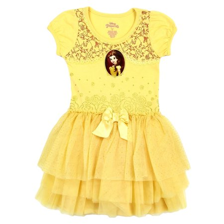 Disney Princess Little Girls' Toddler Belle Costume Dress (2T)