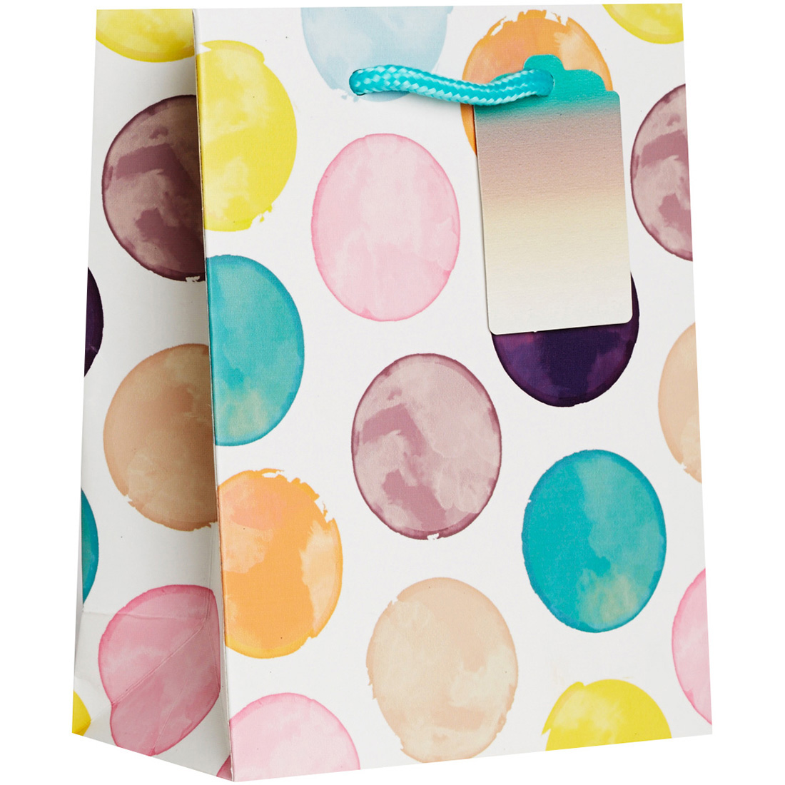 Jillson & Roberts Small Gift Bags, Painted Dot (Pack of 6)