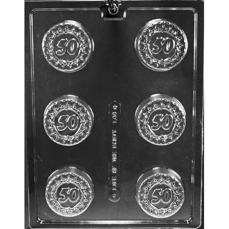Grandmama's Goodies L044 #50 50th Oreo Cookie Chocolate Candy Soap Mold with Exclusive Molding Instructions - Halloween Desserts With Oreos