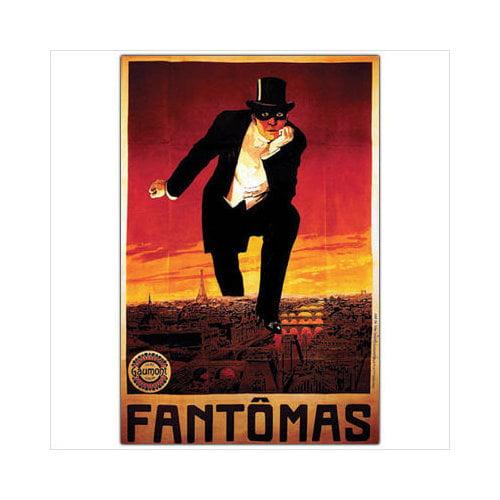 Trademark Global Fantomas, Traditional Framed Canvas Art - 24'' x 18''
