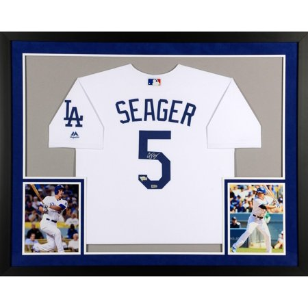 Corey Seager Los Angeles Dodgers SM Deluxe Framed Autographed Majestic White Authentic Jersey - Fanatics Authentic Certified