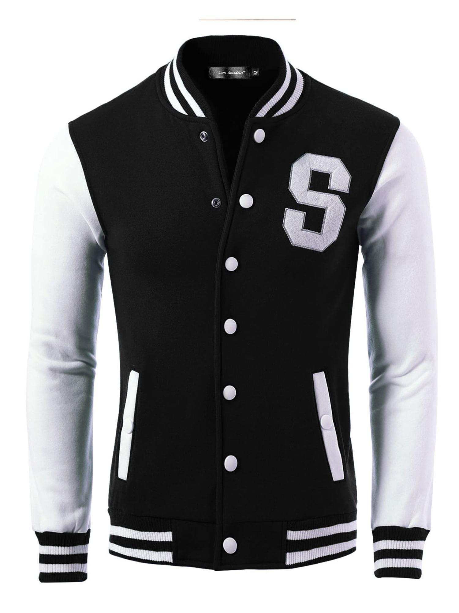 SIAOMA Mens Varsity Letterman Baseball Jacket