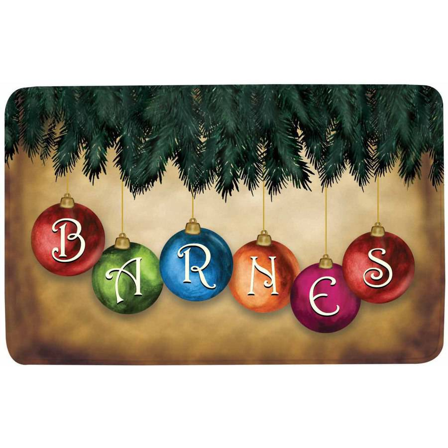 Personalized Classic Ornament Comfort Mat