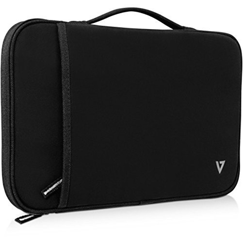 V7 12.2in Blk Sleeve Elite With Straps & Handles