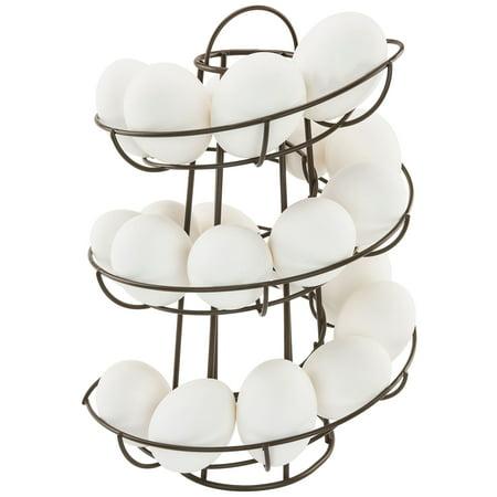- Egg Skelter Deluxe Modern Spiraling Dispenser Rack, Brown