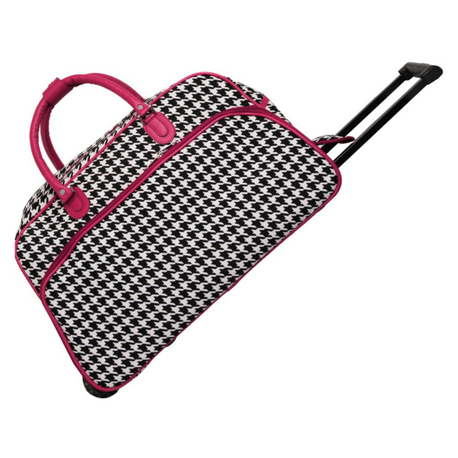 World Traveler Houndstooth 21 in. Rolling Duffel Bag