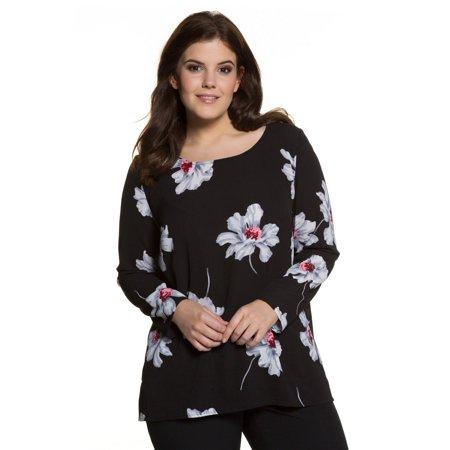 7df44ae04c9 Ulla Popken Women s Plus Size Floral Print Blouse 706654 - Walmart.com