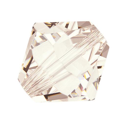 Swarovski Crystal, #5328 Bicone Beads 5mm, 20 Pieces, Light Silk