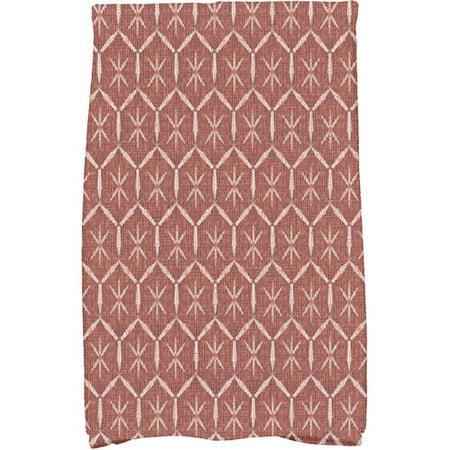 Button Up Geometric Print Hand Towel