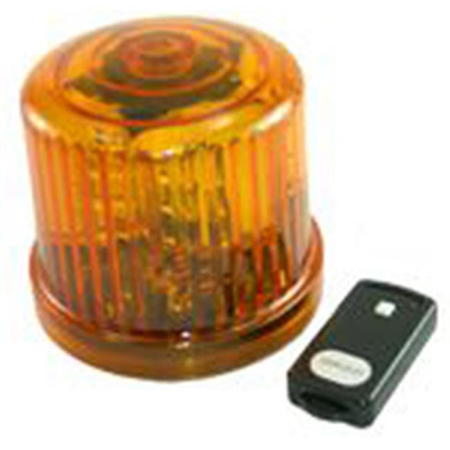 Fortune Products PL-300AJ-RC 4. 75 inch Rotating LED Beacon  Battery Operated-Jack - Amber
