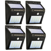Solar LED Motion Sensor Light with Automatic On/Off - 4pk