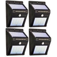 Solar LED Motion Sensor Light with Automatic On/Off - 4pk