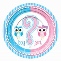 """Gender Reveal 7"""" Plates - Party Supplies 8 per pack - 1 pack"""