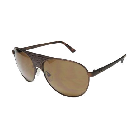 New Converse Breakdown Lane Womens/Ladies Designer Full-Rim 100% UVA & UVB Chocolate Leather Insert Stylish Hip Shades Sunnies Frame Brown Lenses 58-14-140 Sunglasses/Shades