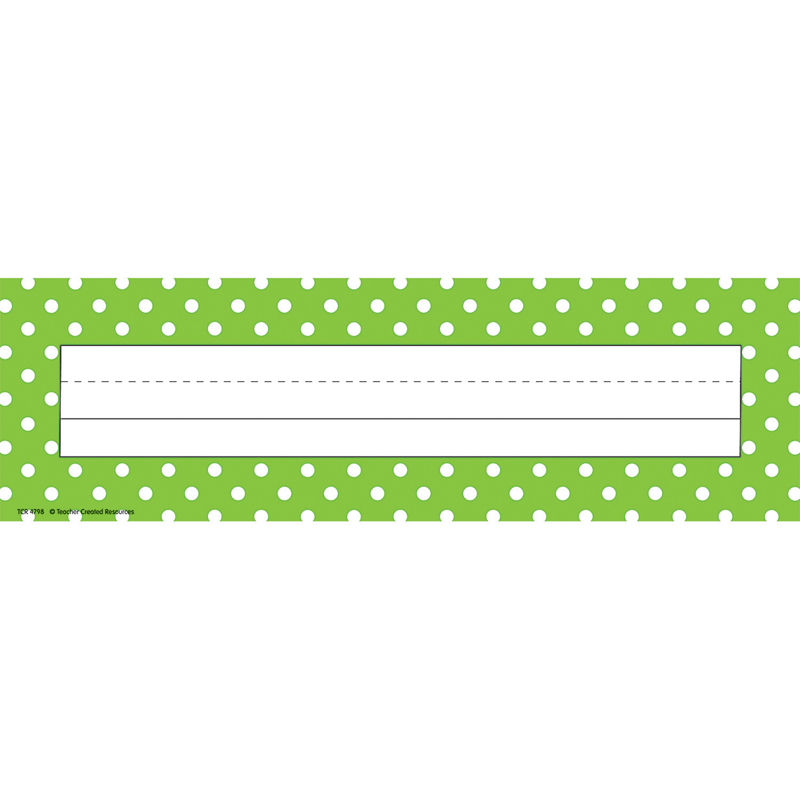 LIME POLKA DOTS NAME PLATES