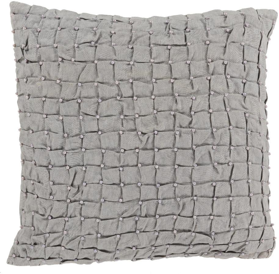"Surya Diana Linen Medium Square Pillow 5""x20""x20"" DN003-2020D"