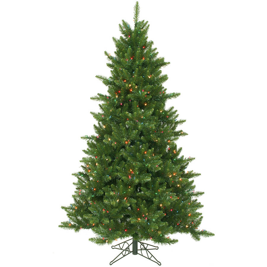 Vickerman 5.5' Camdon Fir Artificial Christmas Tree with 450 Multi-Colored LED Lights