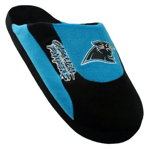 Comfy Feet CPA07LG Carolina Panthers Slippers Low Pro Stripe Large Size by Comfy Feet