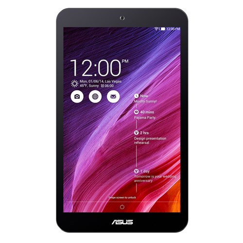 "Manufacturer Refurbished - ASUS MemoPad8 ME181CX-A1-BK 8"" Tablet AtomZ3745 1.33GHz 1GB 16GB SSD Android 4.4"
