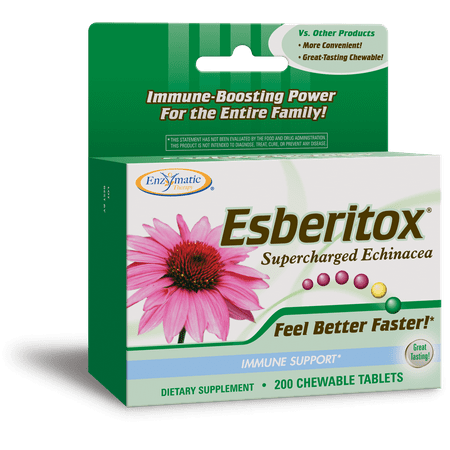 Enzymatic Therapy Esberitox Chewable Tablets Supercharged Echinacea Great-tasting 200 Ct